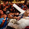 George Clinton heads into the crowd for audience participation