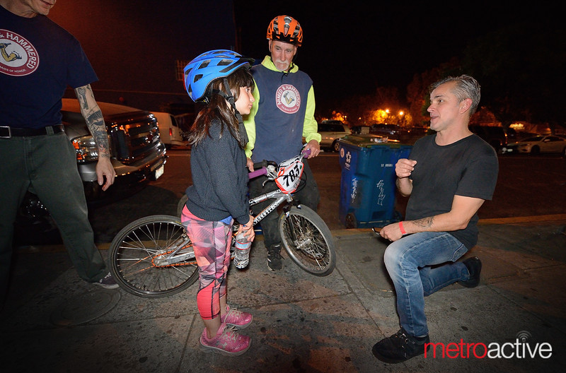 Greg Camp meets a young Smashmouth fan outside the venue