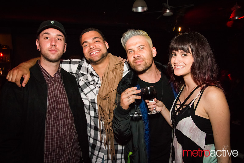 Eric Victorino (The Limousines, Strata; right-center) and friends