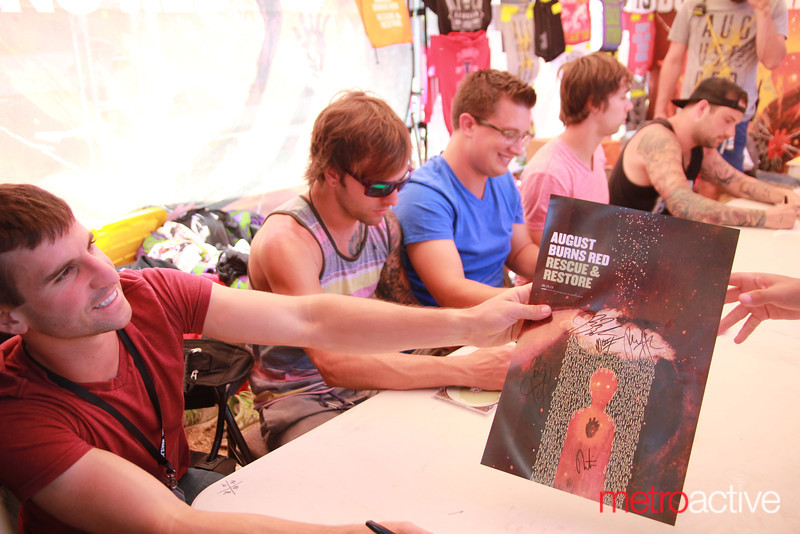 August Burns Red signing @ Van's Warped Tour.  Images by: CJ