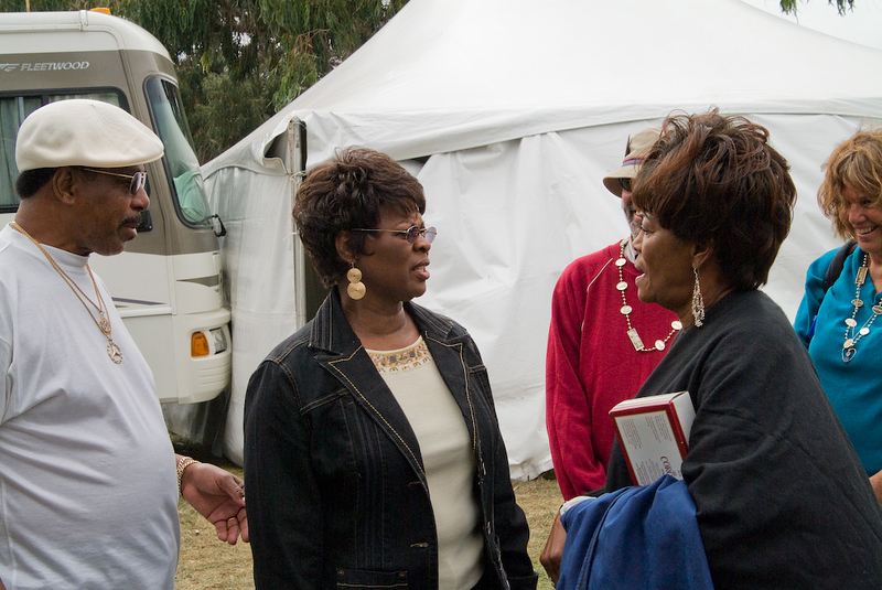 Irma Thomas and Betty Harris backstage