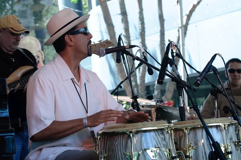 John Santos at the San Jose Jazz Festival