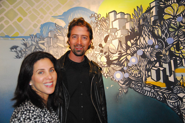 Rob and Theresa in front of the XEC canvas
