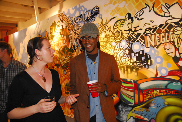 Artist Joshua Mays and Sarah