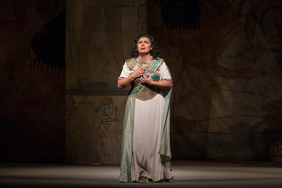 "Liudmyla Monastyrska as the title character in Verdi's ""Aida.""  Photo: Marty Sohl/Metropolitan Opera  Taken during a rehearsal at the Metropolitan Opera on November 15, 2012"