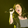 Demi Lovato performing live at the Big Dome...