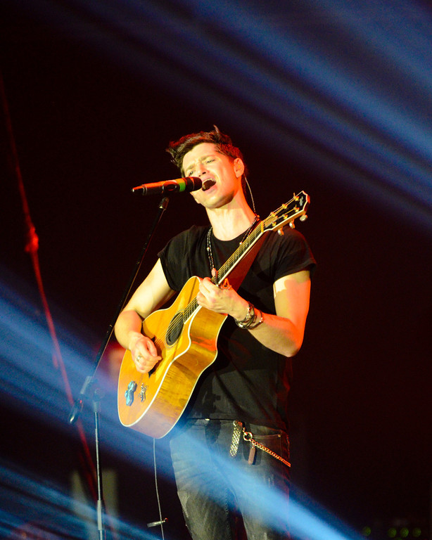 The Script, an alternative rock band, hailing from Ireland, perform at the Big Dome.