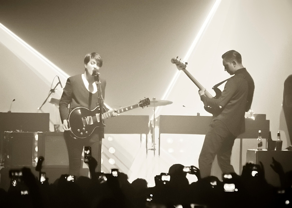 The xx performing live in Manila at the NBC tent.