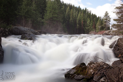Falls on Little Salmon River outside the town of Riggins, Idaho.  Love my neutral density filter!