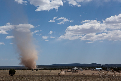 Dust devil outside Flagstaff