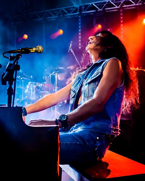 """Ken Kensley (ex- Uriah Heep) during """"Uriah Heep Legends"""" main concert in Salo Finland in August 2012"""