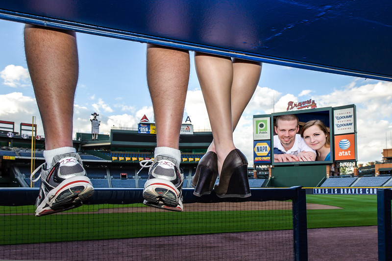 My daughter's engagement shoot at Turner Field in Atlanta on March 24 2012.  Wedding was in November.