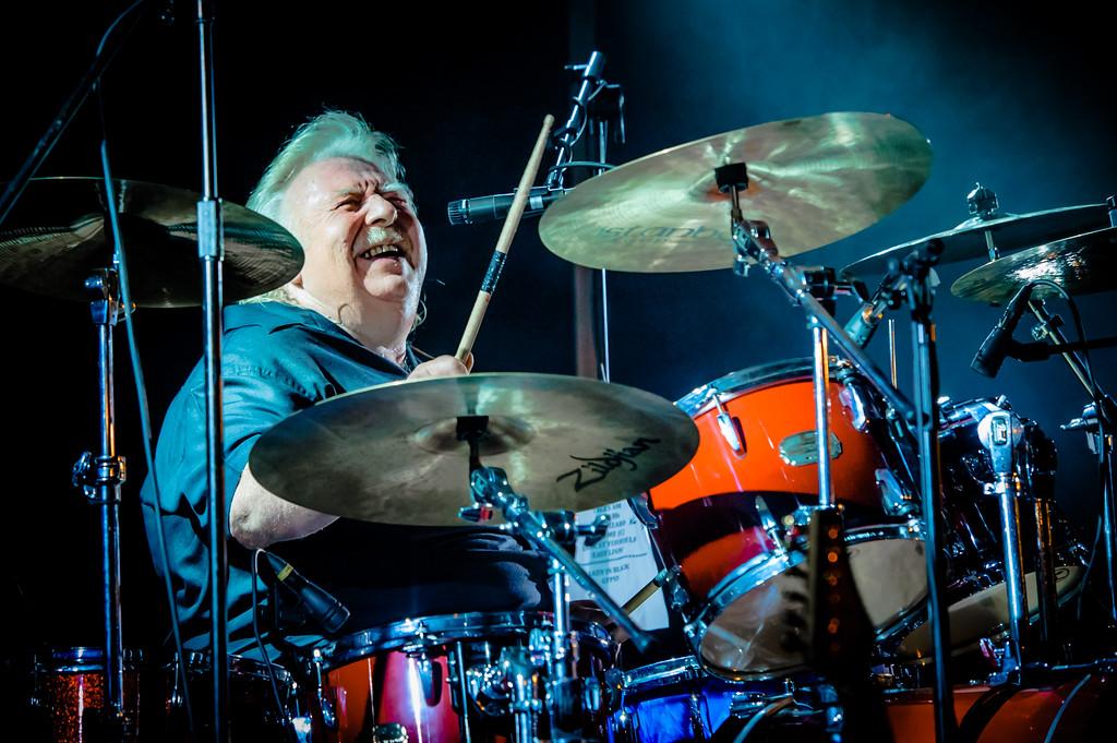 """Lee Kerslake (ex- Uriah Heep) during """"Uriah Heep Legends"""" main concert in Salo Finland in August 2012"""