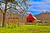 Red Barn and Trellis