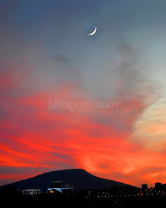 Chattanooga Sunset with Moon