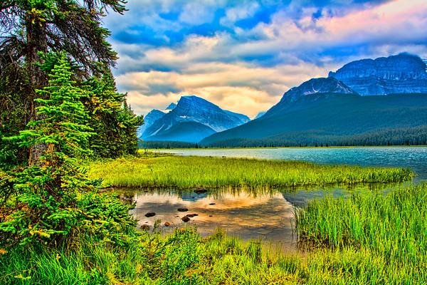 Waterfowl Lakes Sunset