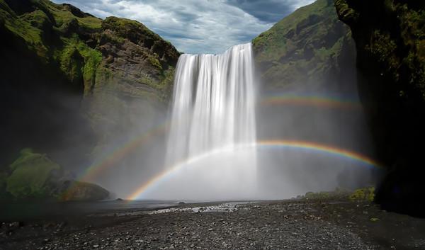 Skogafoss Double Rainbow