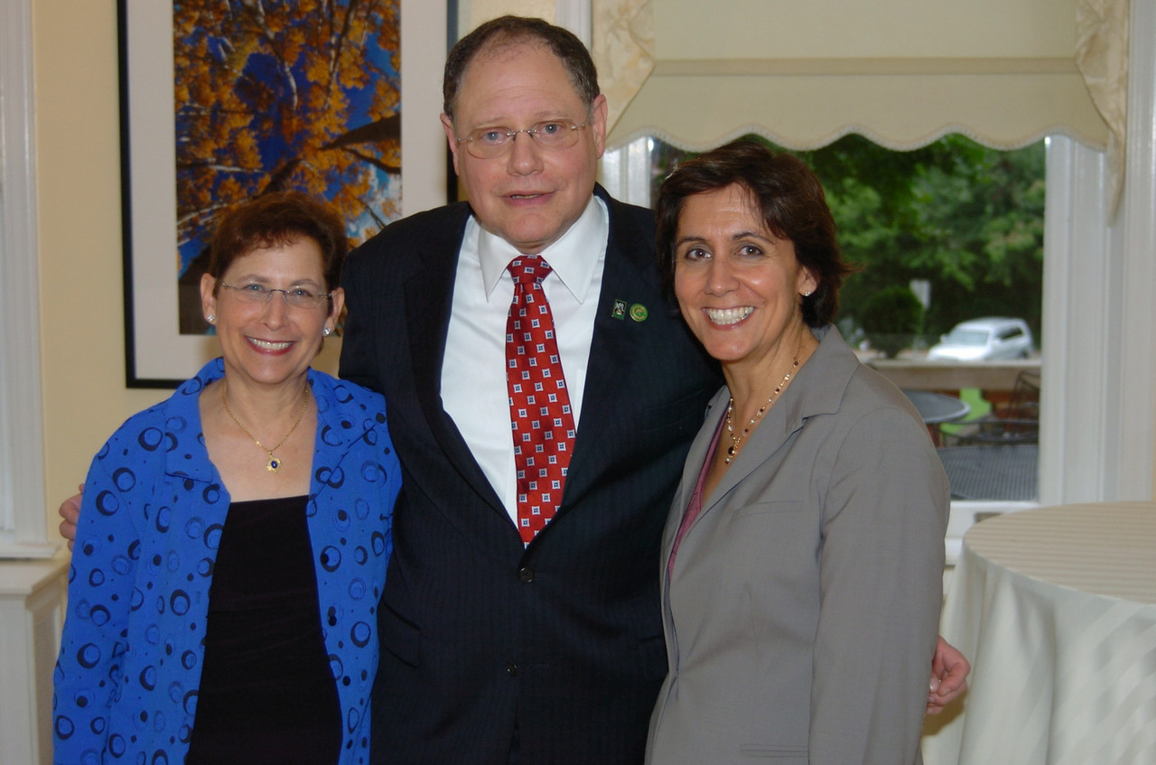 Mayor Katz and his wife with a member of the County Executives office.