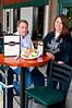 Business District.  Chef Garry Vincent and Waitress Andrea Becker provide a welcoming sight at Quincy's Resturant on 616 Quince Orchard Road in the Quince Orchard Plaza where on Friday's sports night's its always the 5th Quarter.