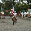 4-H Equestrian Drill Team gets ready to perform as the opening act of the 2012 Ag Fair