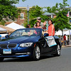 Kentlands Day Grand Marshal's were escorted in style on Main Street, seen here is escort-driver John Schlichting.