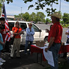 Tea Party Rally held at Lowes Kenlands.  Dick Juregensen of Legislative District 16 GOP speaks before a gathered crowd of supporters.