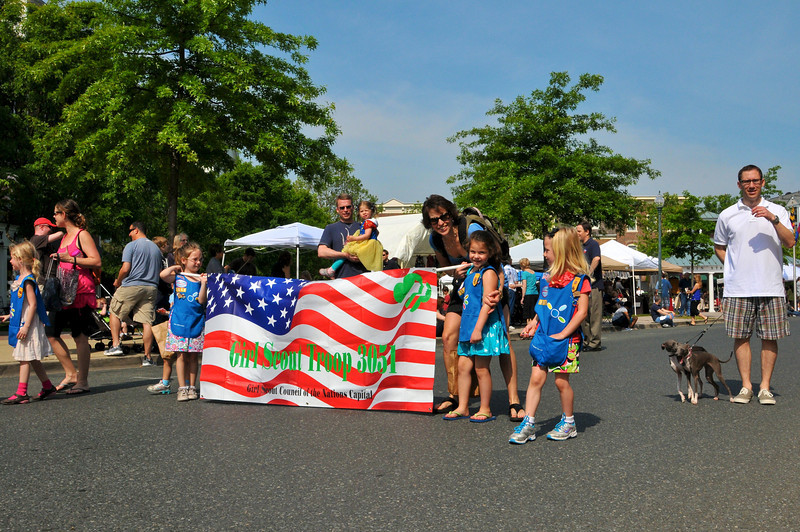 Girl Scout Troup 3051 was marching in the Kentlands Day Parade.