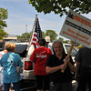 Tea Party Rally held at Lowes Kenlands.  Betty Foley with home made sign at Tea Party Rally