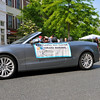 Kentlands Day Grand Marshal's were escorted in style on Main Street, seen here is escort-driver John Gresh
