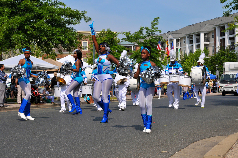 """The Band"" Marching Unit from Baltimore, MD was featured in the Kentlands Day Parade."