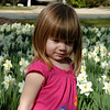 Olivia Athanas was enjoying the flowers with her mother Marybeth at the Leeks Lot park