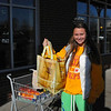 Kayla Clarke starts off the New Year with a grocery bag in hand at Whole Foods