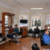 Interior of the Family Barber Shop at 409 Main St Kentlands