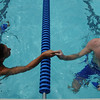 2014 Division E Championships hosted by Kentlands includes Franklin Knolls Gators, Stonebridge Sharks, King Farm Screaming Geese, Northwest Branch Dolphins, Mohicans and the Kentlands Kingfish.<br /> <br /> Featured: Team mates - Ward Simcox and Ryan McCann congratulate each other after the 100M Breaststroke