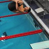 Quince Orchard versus Magruder Swim and Dive competition at Shriver Swim Center in Rockville MD<br /> <br /> Anatomy of a competition dive - Evan Finkelstein (QO)