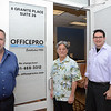 OfficePro at 8 Granite Place in the Kentlands.  Owner and staff at OfficePro are Araon Udler (white shirt) Dan Call and Randy Chung.