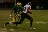 QO Senior Wide Receiver #32 Eric Bishop finds an opening against Damascus
