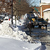 Kentland Town Center Area. Piles and piles of snow greeted the customers to the Kentlands Dowtown Business District