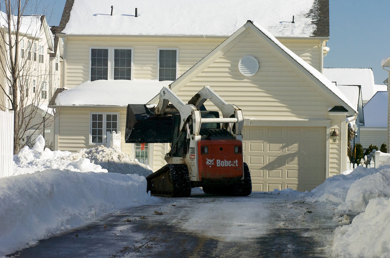 Kentland Town Center Area. Kentland residents appreciate a little lift in removing snow from their cul-de-sac streets.