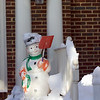 Kentland Town Center Area. This snowman got a good work out durring the Blizzard that dropped over 16 inches of snow in the Kentlands