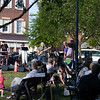Summer 2010. 3 'Til Midnight performed at the first Main Street Week night concert.  Here residents gather to listen to the group play until 10 PM