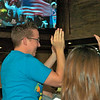 Summer 2010. Patrons at Tony & James celebrate USA's goal against Ghana in the World Cup Playoffs.