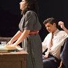 QO High School Drama Department Production of Bye Bye Birdie<br /> <br /> Sanjana Taskar as Rose Alvarez and Scotty Fletcher as Albert Petersen in Scene One: Office of Almaelou Music