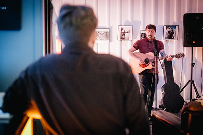 Kieran Taylor performs at Arch Sixteen Cafe in Gateshead. 26.10.17