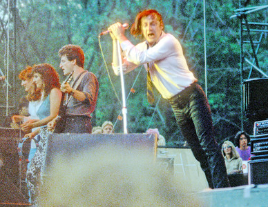 Patty Scalfia, unknown, Wilie Rush, and Southside Johnny.