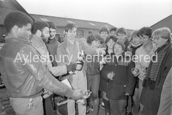 Queue for Howard Jones Friars tickets, Feb 24th 1984