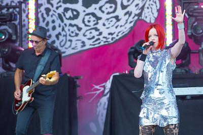 July 9, 2017 - Santa Barbara, California, Garbage performs at the Santa Barbara Bowl. © Thomas Long