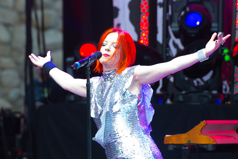 July 9, 2017 - Santa Barbara, California, Garbage performs at the Santa Barbara Bowl. © Thomas Long