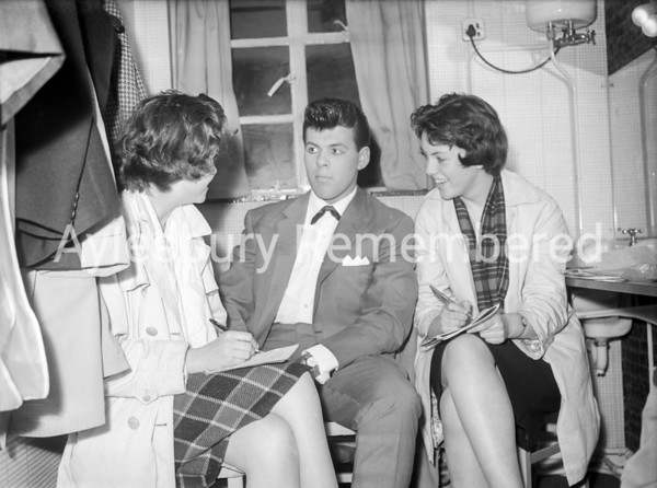 Paul Hanford in the dressing room at Granada, April 25 1961