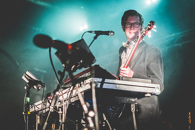 Public Service Broadcasting perform onstage at The Boiler Shop in Newcastle on 17th October 2017